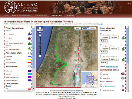 Interactive Map: Water in the Occupied Palestinian Territory