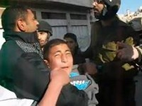 Arrest of a palestinian boy in Hebron
