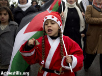 Santa demonstrating in Nabi Saleh